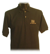 embroidered logo polo shirt for Museum of Country Life